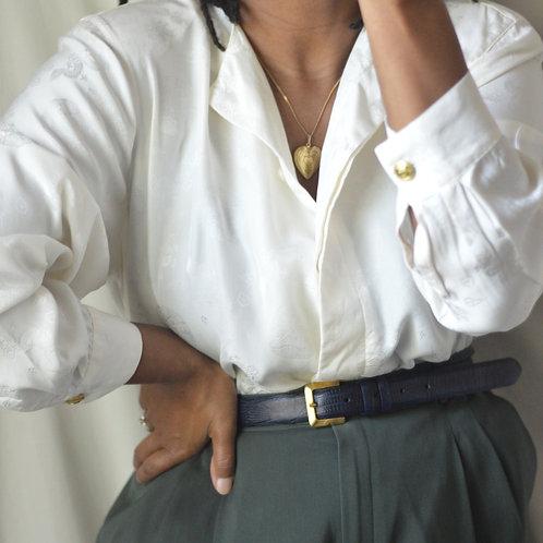 Vintage Silk Cultural Blouse  L 