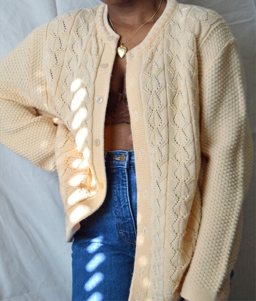 Vintage Multi-Knit Cardigan |2X|