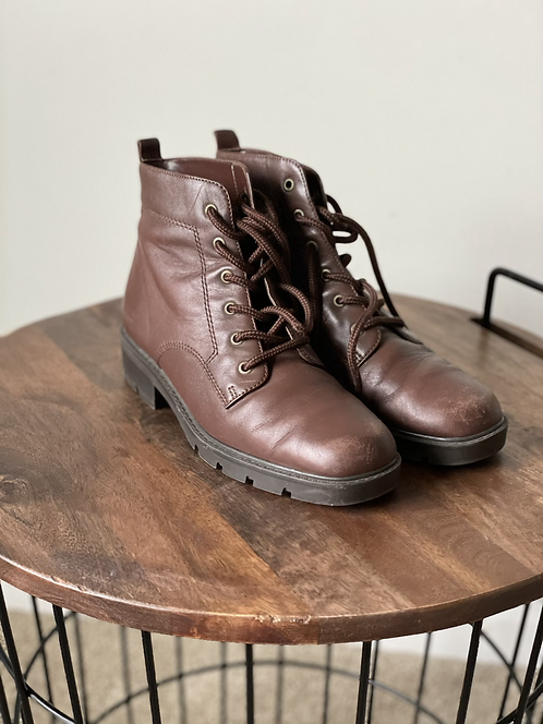 Vintage Leather Ankle Boots |7.5M|