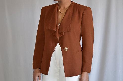 Vintage Brown Wool Blazer |4|