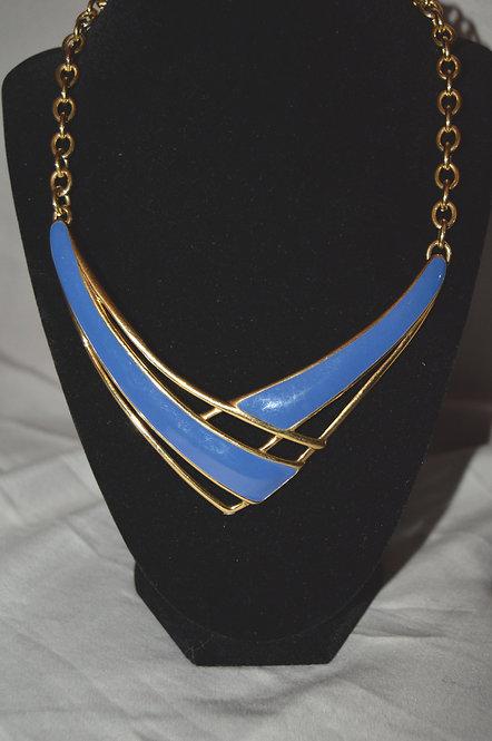 Vintage Azure Monet V-shaped Necklace