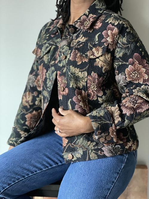 Vintage Floral Jean Jacket  PL 