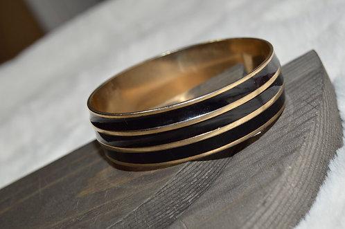 Vintage Black & Gold Bracelet