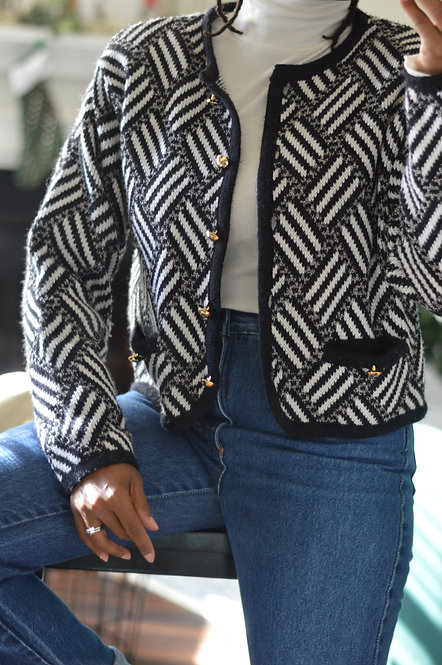 Vintage Semi-Cropped Knit Cardigan |M|