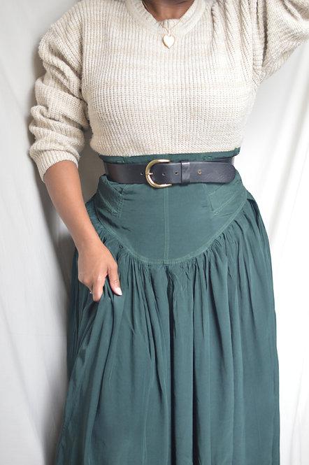 "Vintage High Waist Maxi Skirt |25""|"