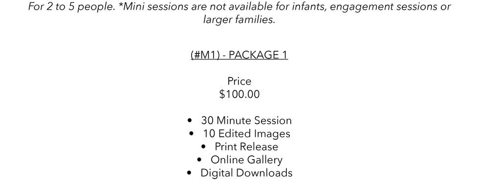 SLR Photography & Design price sheet -1.