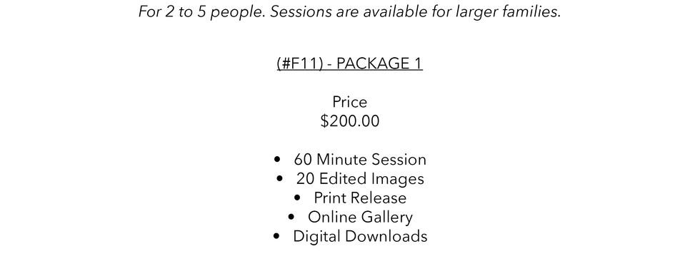 SLR Photography & Design price sheet -2.