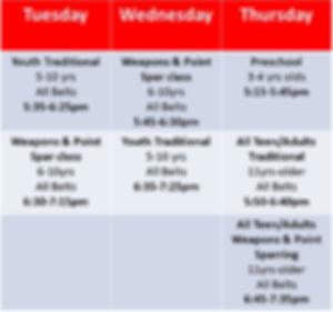 Fall karate class schedule 2019.jpg