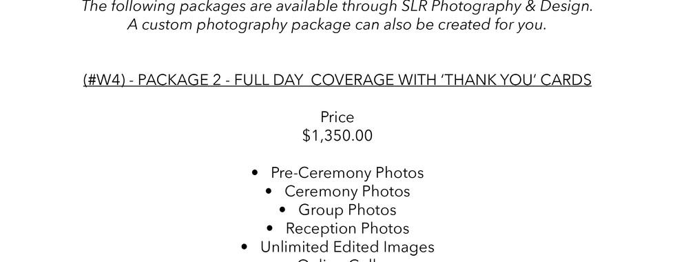 SLR Photography & Design price sheet -10