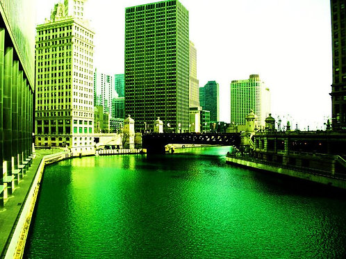 Chicago 8 x 8 St. Patty's Day Scene
