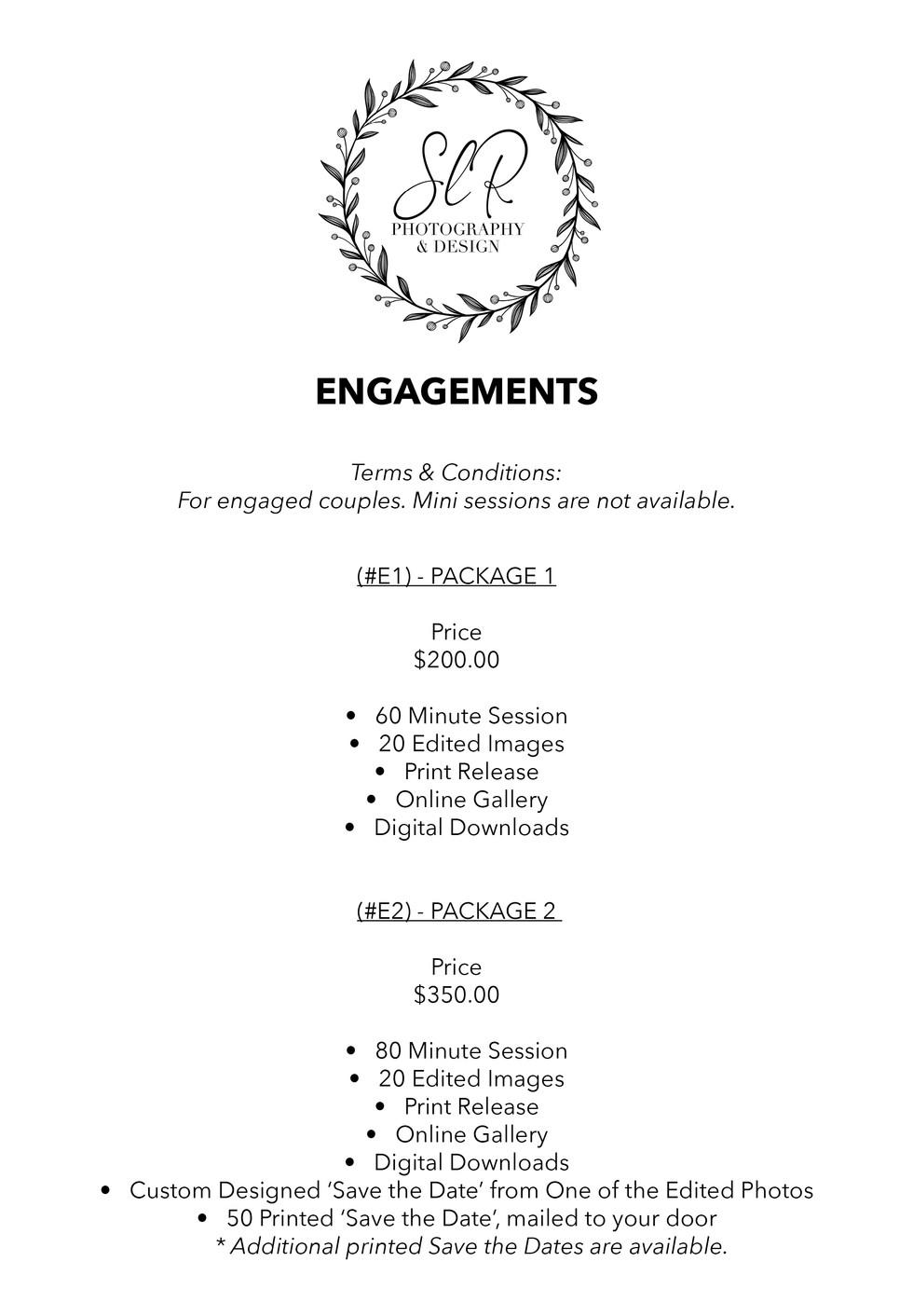 SLR Photography & Design price sheet -6.