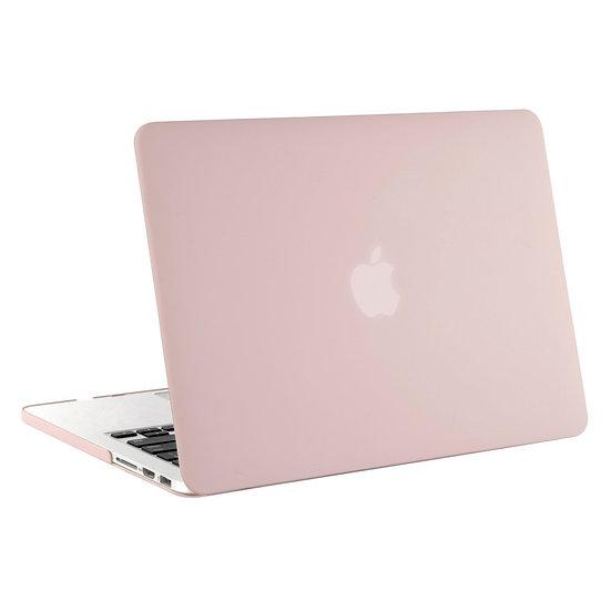 เคส Macbook Rose Quartz ผิวด้าน ไม่เจาะโลโก้