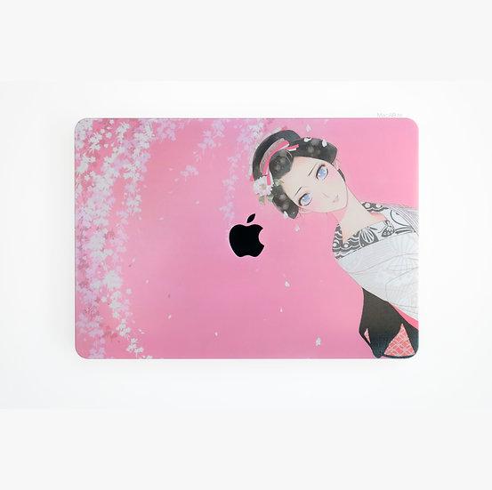 เคส Macbook ลาย Pink Sakura เจาะโลโก้