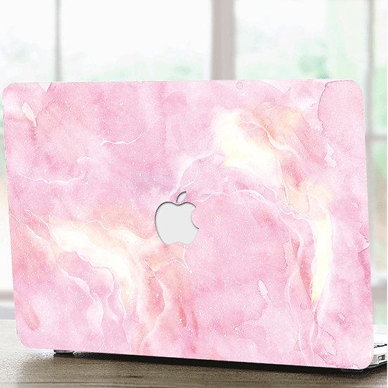 เคส Macbook ลาย Paint Brush Pink เจาะโลโก้