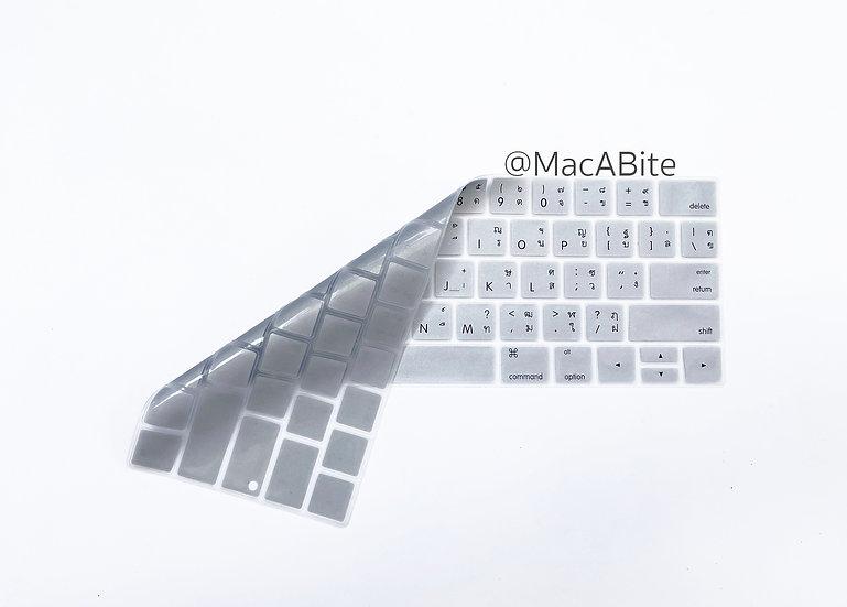 กันรอยคีย์บอร์ด สีเงิน มีภาษาไทย-อังกฤษ MacBook