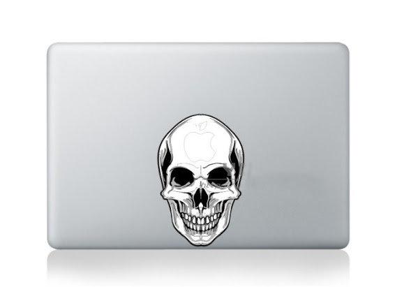 สติ๊กเกอร์ Apple Macbook Decal - Skull