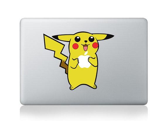 สติ๊กเกอร์ Apple Macbook Decal - Pikachu