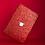 Thumbnail: เคส Macbook กากเพชร สี Red เจาะโลโก้ มีTextureกากเพชร