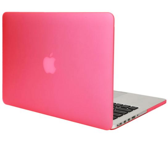 เคส Macbook สีชมพู ผิวด้าน ไม่เจาะโลโก้