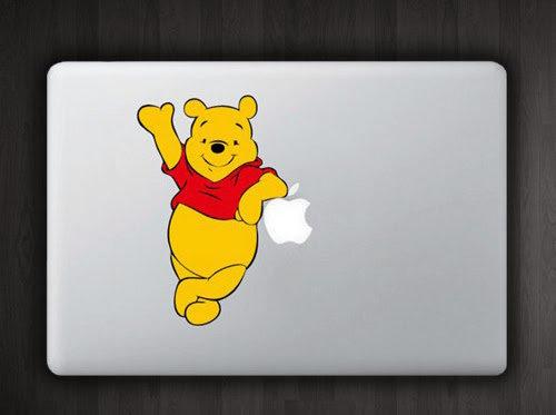 สติ๊กเกอร์ Apple Macbook Decal - หมีพู