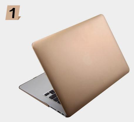 เคส Macbook สีทองเมทาลิก ไม่เจาะโลโก้