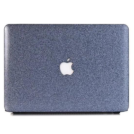 เคส Macbook กากเพชร สี Dark Grey ผิวมัน เจาะโลโก้