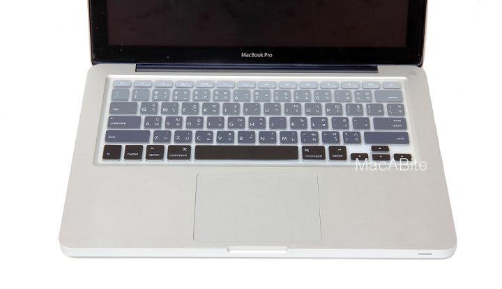 กันรอยคีย์บอร์ด สีเทาไล่โทน มีภาษาไทย-อังกฤษ MacBook