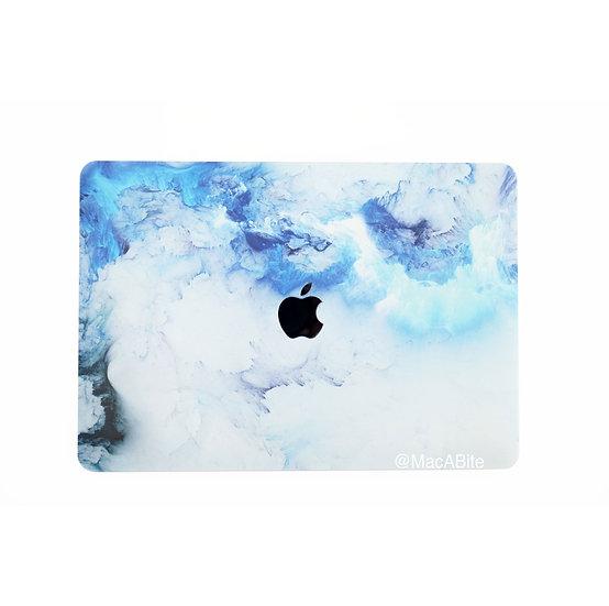 เคส Macbook ลาย Blue Splash เจาะโลโก้