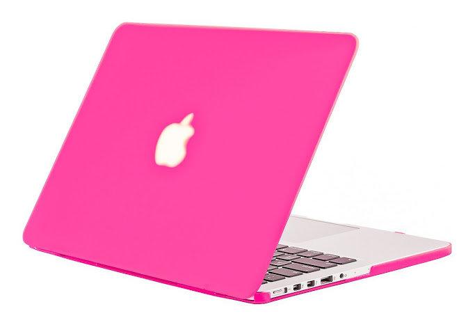 เคส Macbook สีชมพูบานเย็น  ผิวด้าน ไม่เจาะโลโก้