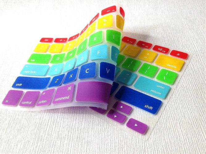 กันรอยคีย์บอร์ดสี Candy ภาษาอังกฤษ MacBook