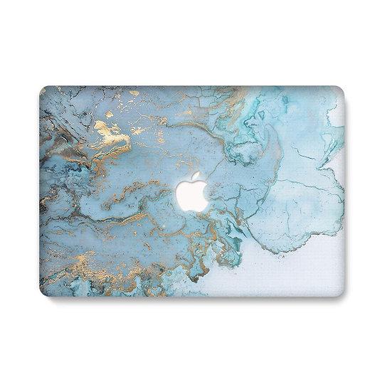 เคส Macbook ลายหินอ่อน Blue Water เจาะโลโก้