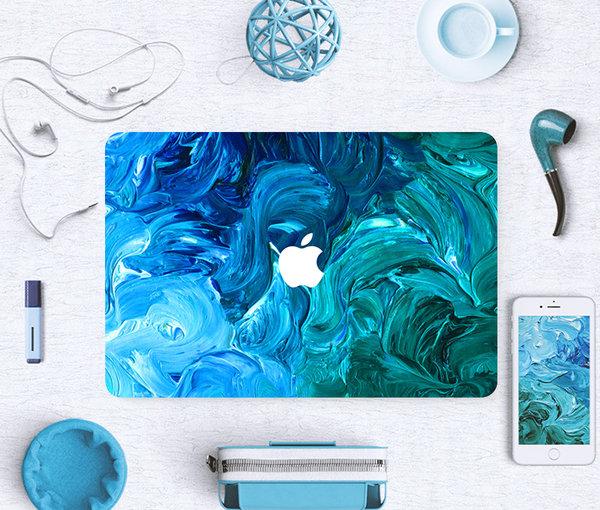 sticker ลาย Oil Paint ติดรอบตัวเครื่อง Macbook