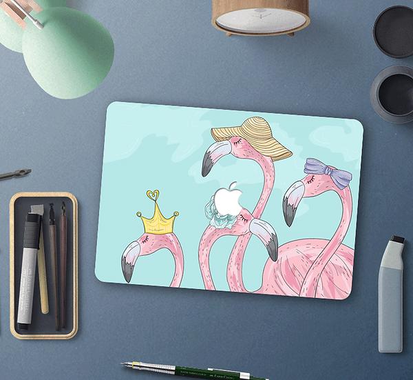 เคส Macbook ลาย Flamingo เจาะโลโก้