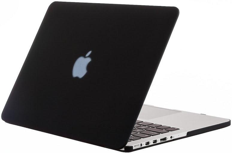 เคส Macbook สีดำ ผิวด้าน ไม่เจาะโลโก้