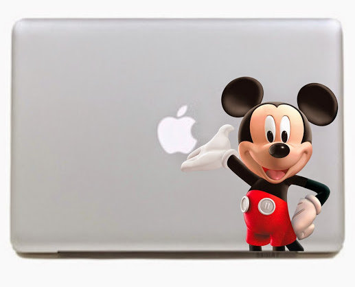 สติ๊กเกอร์ Apple Macbook Decal - Mickey