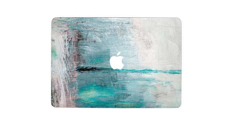 sticker ลาย Paint Old Wood ติดรอบตัวเครื่อง Macbook