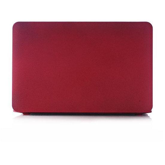 เคส Macbook สีแดงเลือดหมู เนื้อพ่นทราย ไม่เจาะโลโก้