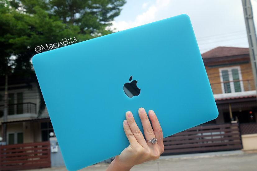เคส Macbook สี Light Blue ผิวด้าน เจาะโลโก้