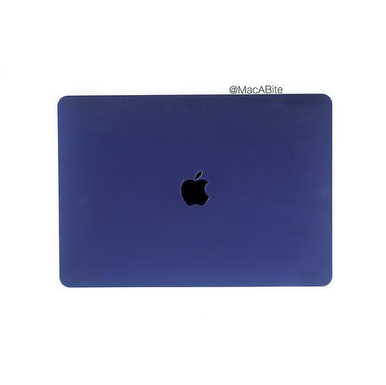 เคส Macbook สีน้ำเงินกรมท่า ผิวด้าน เจาะโลโก้