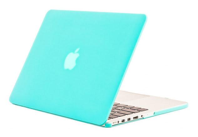 เคส Macbook สีฟ้ามินท์ ผิวด้าน ไม่เจาะโลโก้