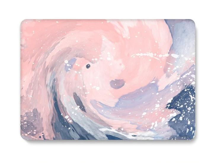 เคส Macbook ลาย Pink Splash ไม่เจาะโลโก้