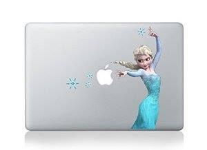 สติ๊กเกอร์ Apple Macbook Decal - Elsa frozen V2