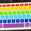 Thumbnail: กันรอยคีย์บอร์ดสี Candy ภาษาอังกฤษ MacBook