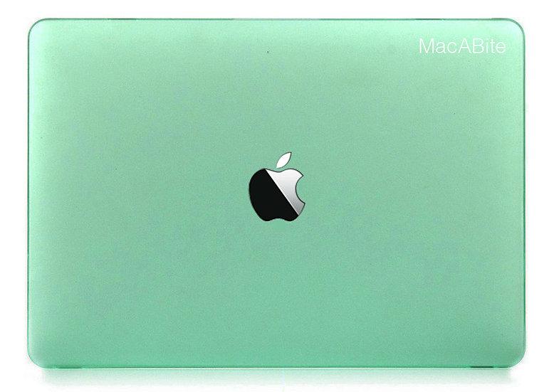 เคส Macbook สีเขียวมินท์ ผิวด้าน เจาะโลโก้