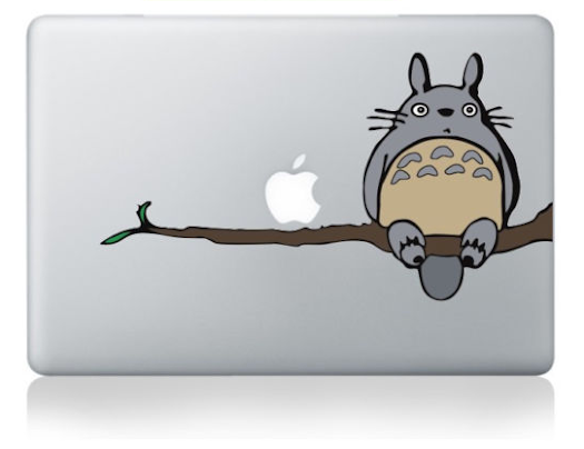 สติ๊กเกอร์ Apple Macbook Decal - totoro