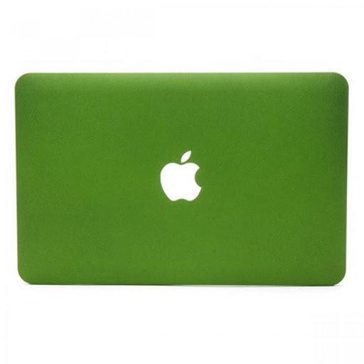 เคส Macbook สีเขียว เนื้อพ่นทราย เจาะโลโก้