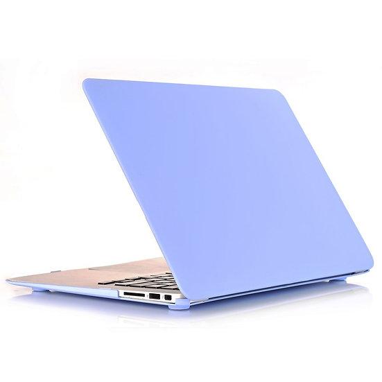 เคส Macbook สี Serenity Blue  ผิวด้าน ไม่เจาะโลโก้