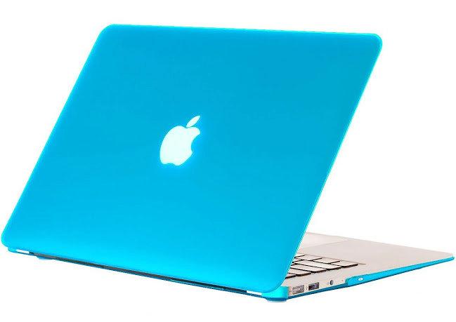 เคส Macbook สีฟ้าน้ำทะเล ผิวด้าน ไม่เจาะโลโก้