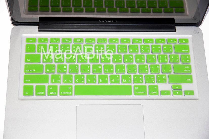 กันรอยคีย์บอร์ด สีเขียว มีภาษาไทย-อังกฤษ MacBook