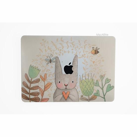 เคส Macbook ลาย Rabbit เจาะโลโก้